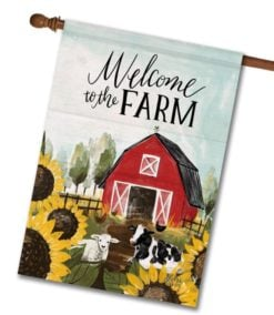 Welcome to the Farm - House Flag - 28'' x 40''