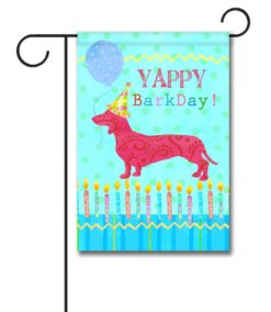 Yappy BarkDay - Garden Flag - 12.5'' x 18''
