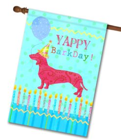 Yappy BarkDay - House Flag - 28'' x 40''