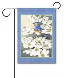 Dogwood Bluebird - Garden Flag - 12.5'' x 18''