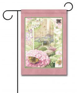 Peaceful Butterfly Hydrangea - Garden Flag - 12.5'' x 18''