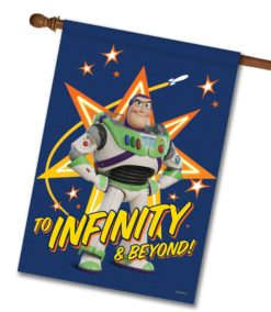 Buzz Lightyear Infinity & Beyond - House Flag - 28'' x 40''
