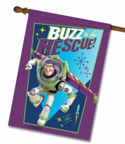 Buzz to the Rescue - House Flag - 28'' x 40''