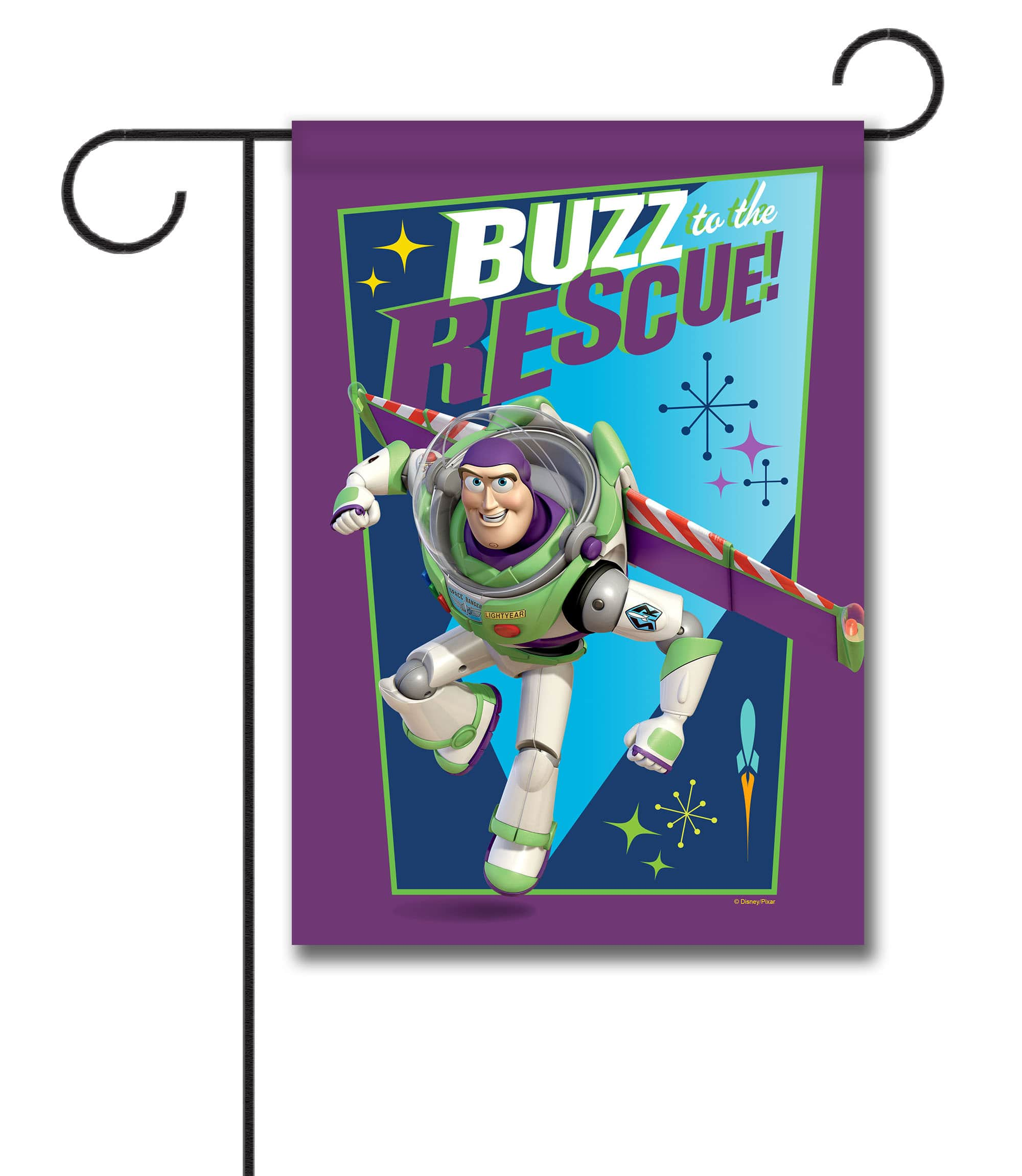 Buzz to the Rescue - Garden Flag - 12.5'' x 18''