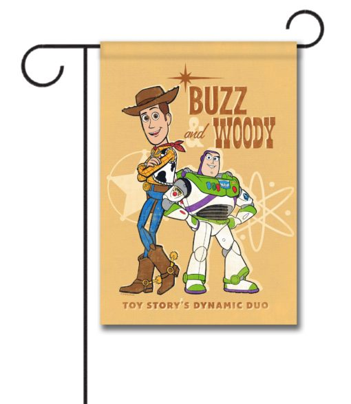 Buzz & Woody Dynamic Duo - Garden Flag - 12.5'' x 18''