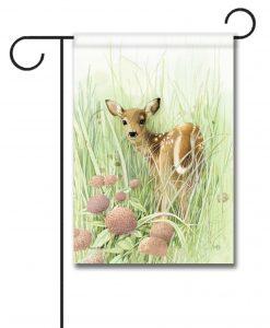 Spring Deer - Garden Flag - 12.5'' x 18''