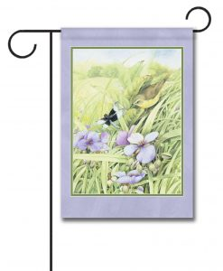 Goldfinch in Wildflowers - Garden Flag - 12.5'' x 18''
