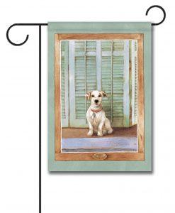 Dog Watcher - Garden Flag - 12.5'' x 18''