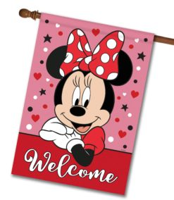 Minnie Mouse Welcome - House Flag - 28'' x 40''