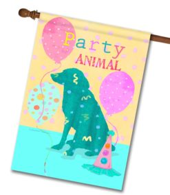 Party Animal - House Flag - 28'' x 40''