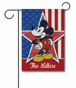 Personalized Stars and Stripes Mickey - Garden Flag - 12.5'' x 18''