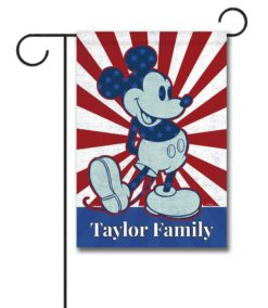Personalized Starburst Mickey - Garden Flag - 12.5'' x 18''