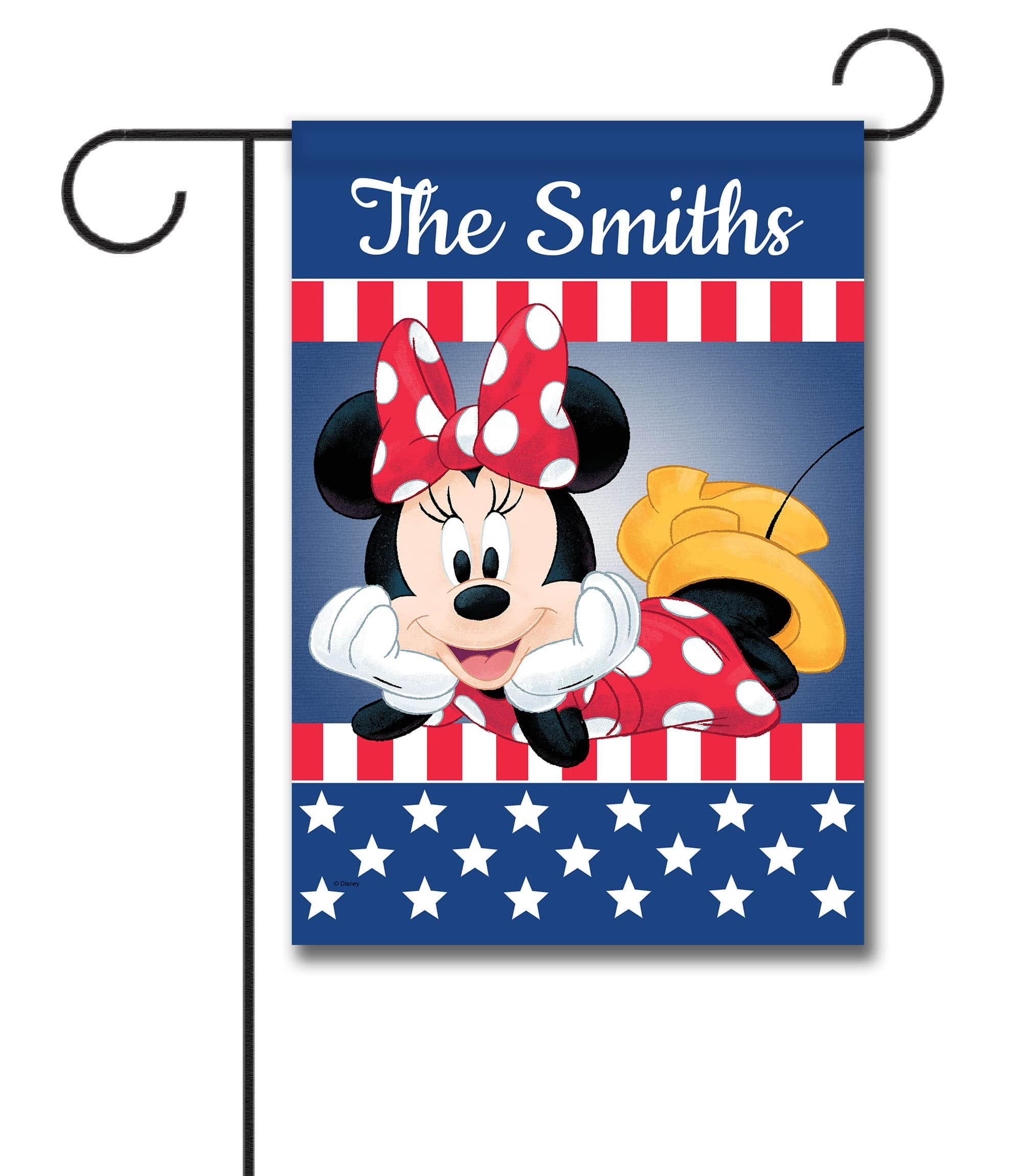 Personalized Patriotic Minnie - Garden Flag - 12.5'' x 18''
