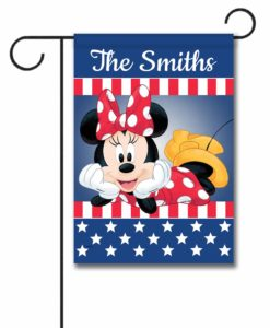 Personalized USA Minnie Mouse Garden Flag