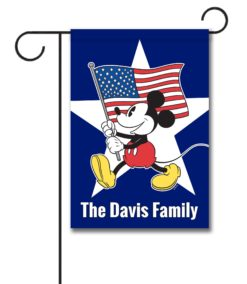 Personalized Freedom Mickey - Garden Flag - 12.5'' x 18''
