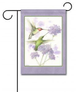 Ruby-Throated Hummingbirds - Garden Flag - 12.5'' x 18''