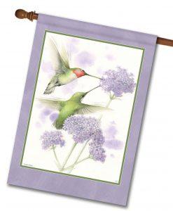 Ruby-Throated Hummingbirds - House Flag - 28'' x 40''