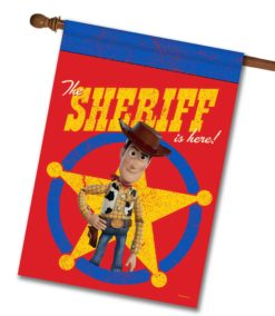 Sheriff is Here Woody - House Flag - 28'' x 40''