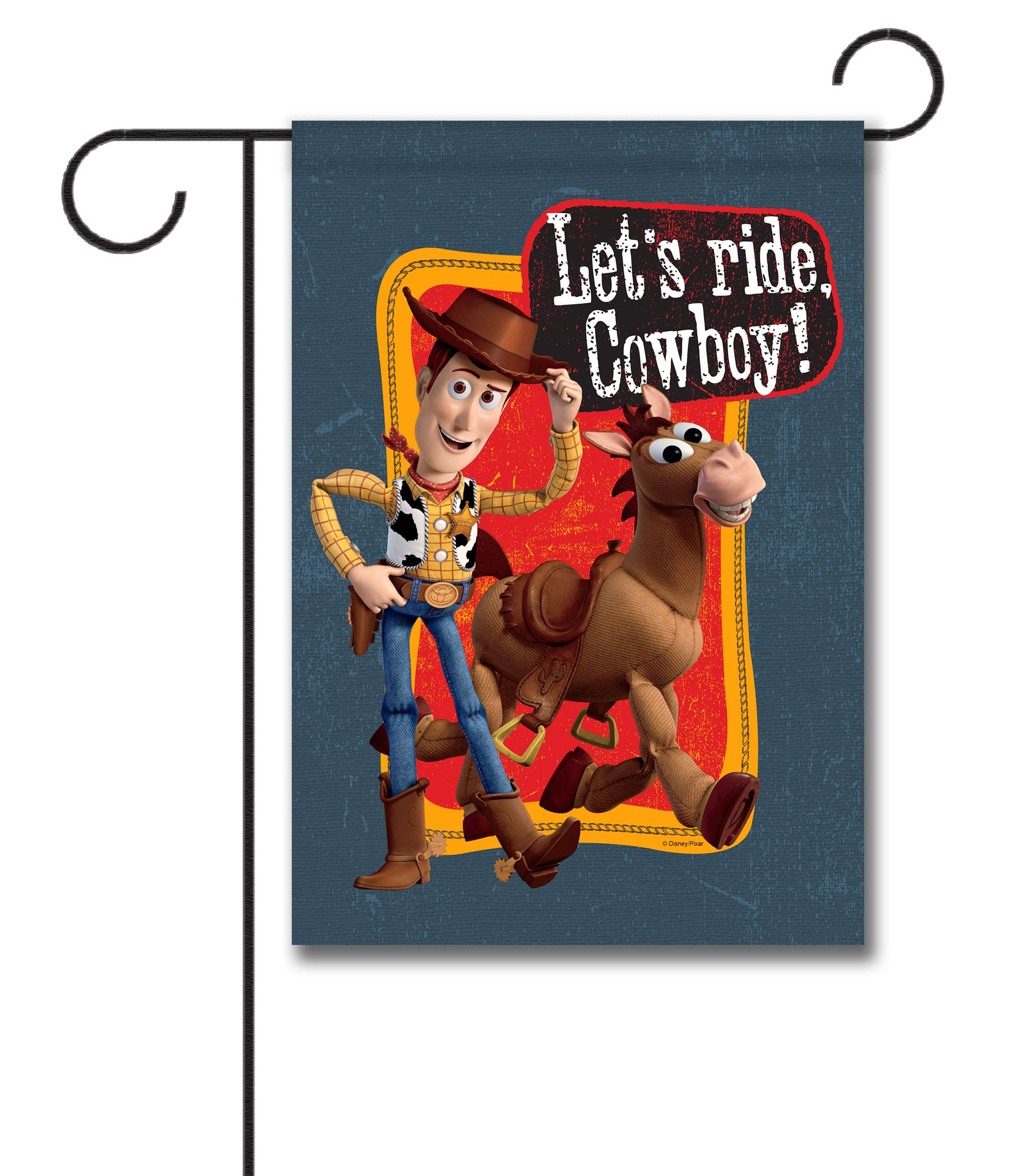 Let's Ride Cowboy Woody - Garden Flag - 12.5'' x 18''