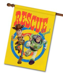 Woody & Buzz Rescue Squad - House Flag - 28'' x 40''