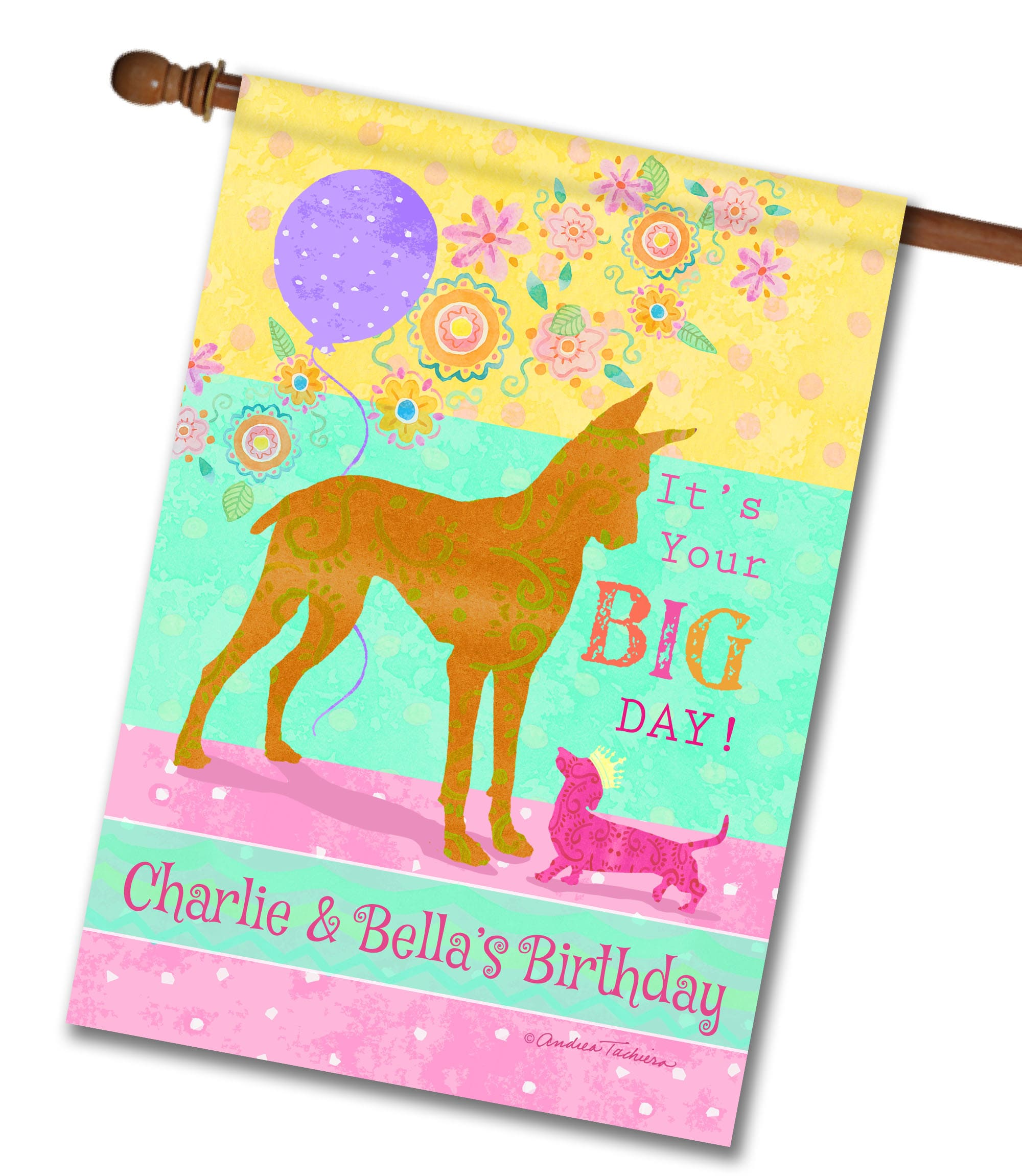 """Personalized It's Your Big Day - House Flag - 28"""" x 40"""""""