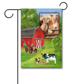 Farm Welcome Photo Garden Flag