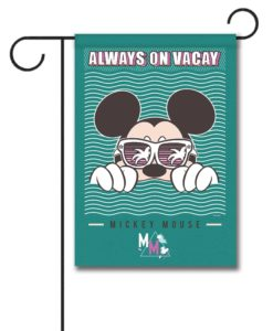 Mickey Mouse Vacay Summer Garden Disney Flag