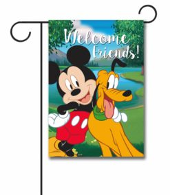 Mickey Mouse and Pluto Garden Disney Flag