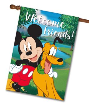 Mickey Mouse and Pluto House Disney Flag