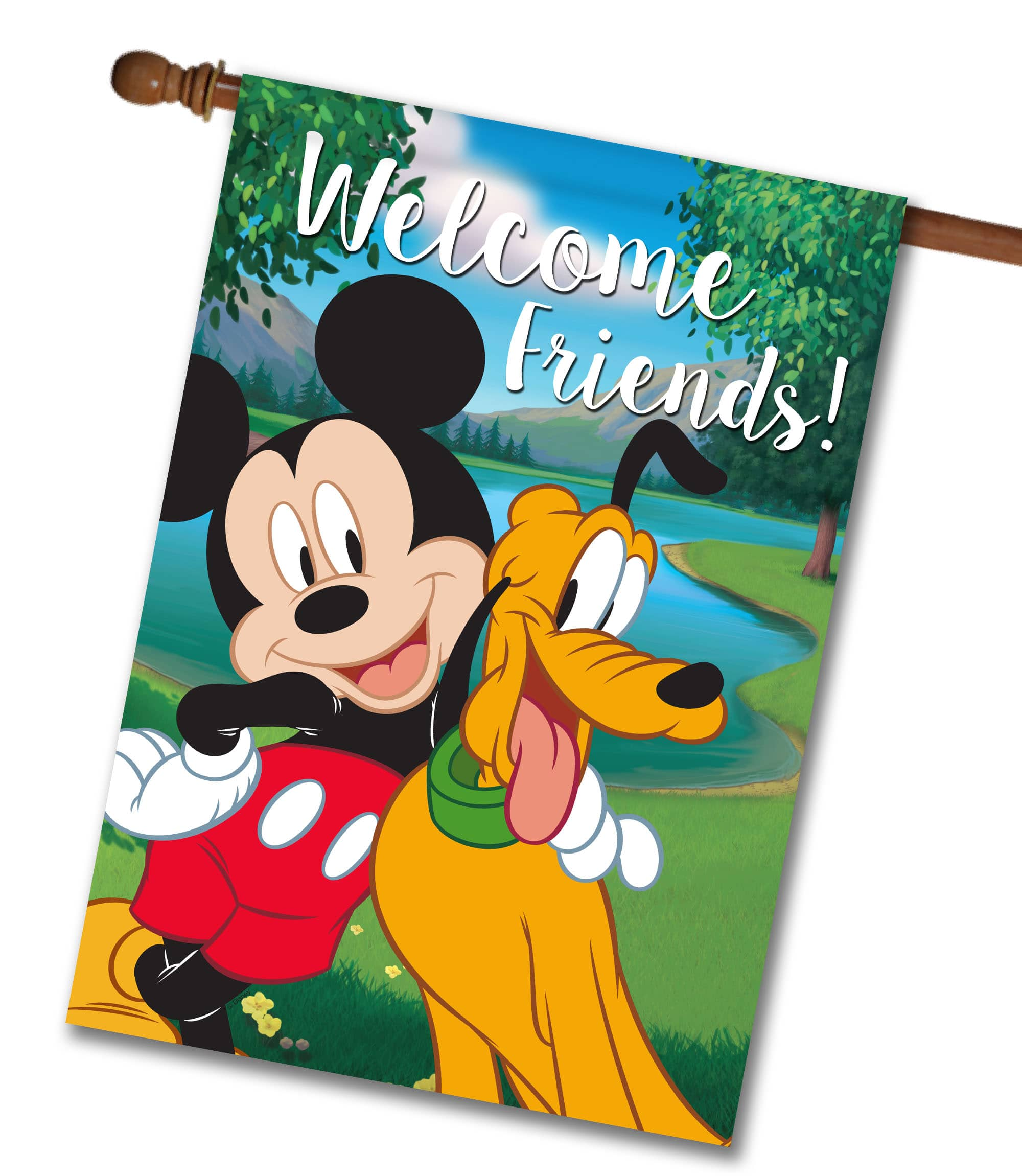 """Disney Mickey Mouse Poster 30/"""" x 8.5/"""" Custom Name Painting Printing"""