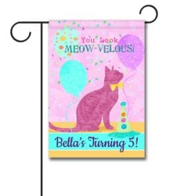 Personalized You Look Meow-velous - Garden Flag - 12.5'' x 18''