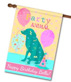"Personalized Party Animal - House Flag - 28"" x 40"""