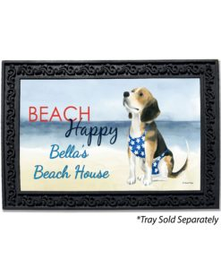Personalized Beagle Beach Summer Doormat