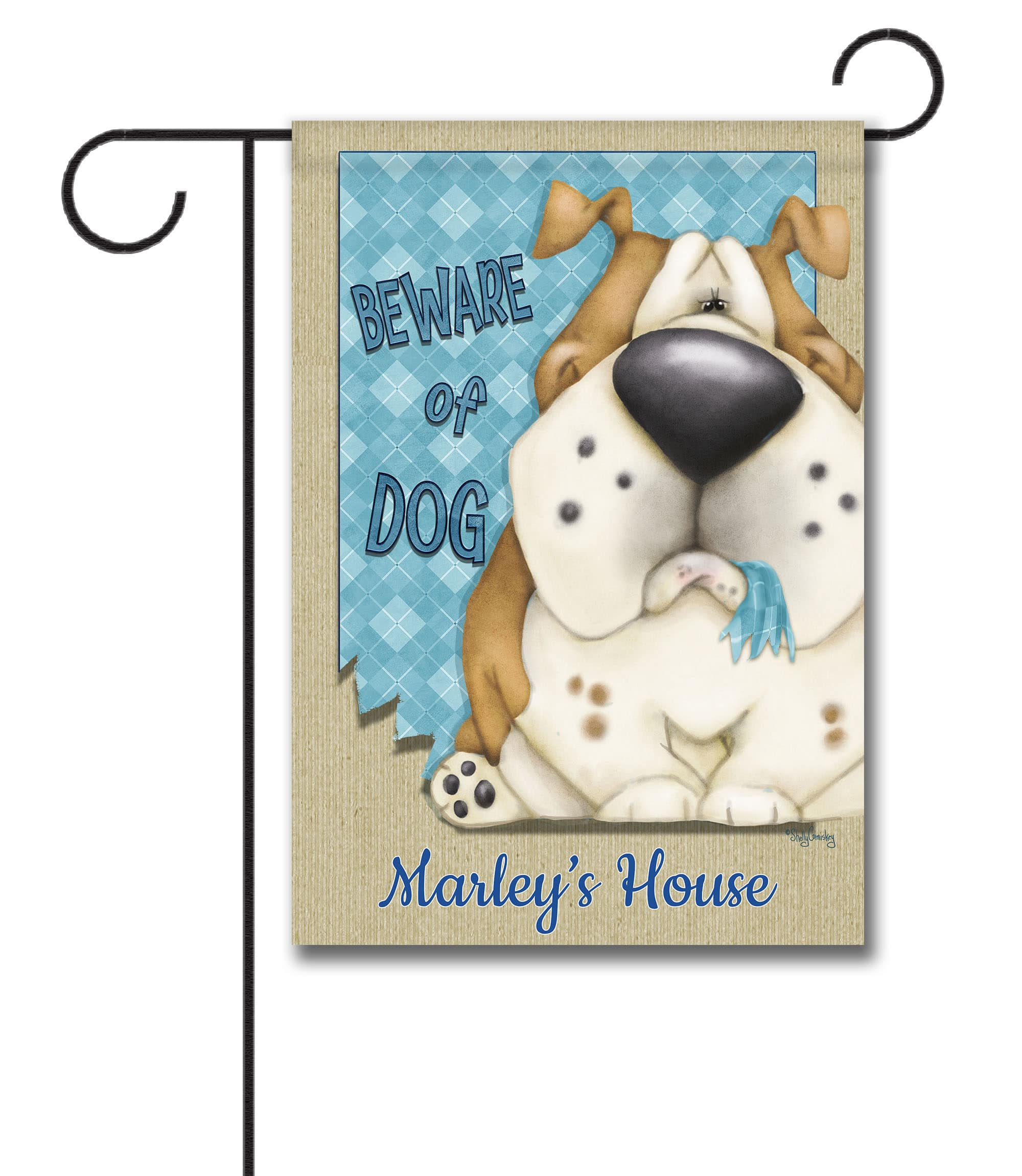 Personalized Beware of Dog - Garden Flag - 12.5'' x 18''