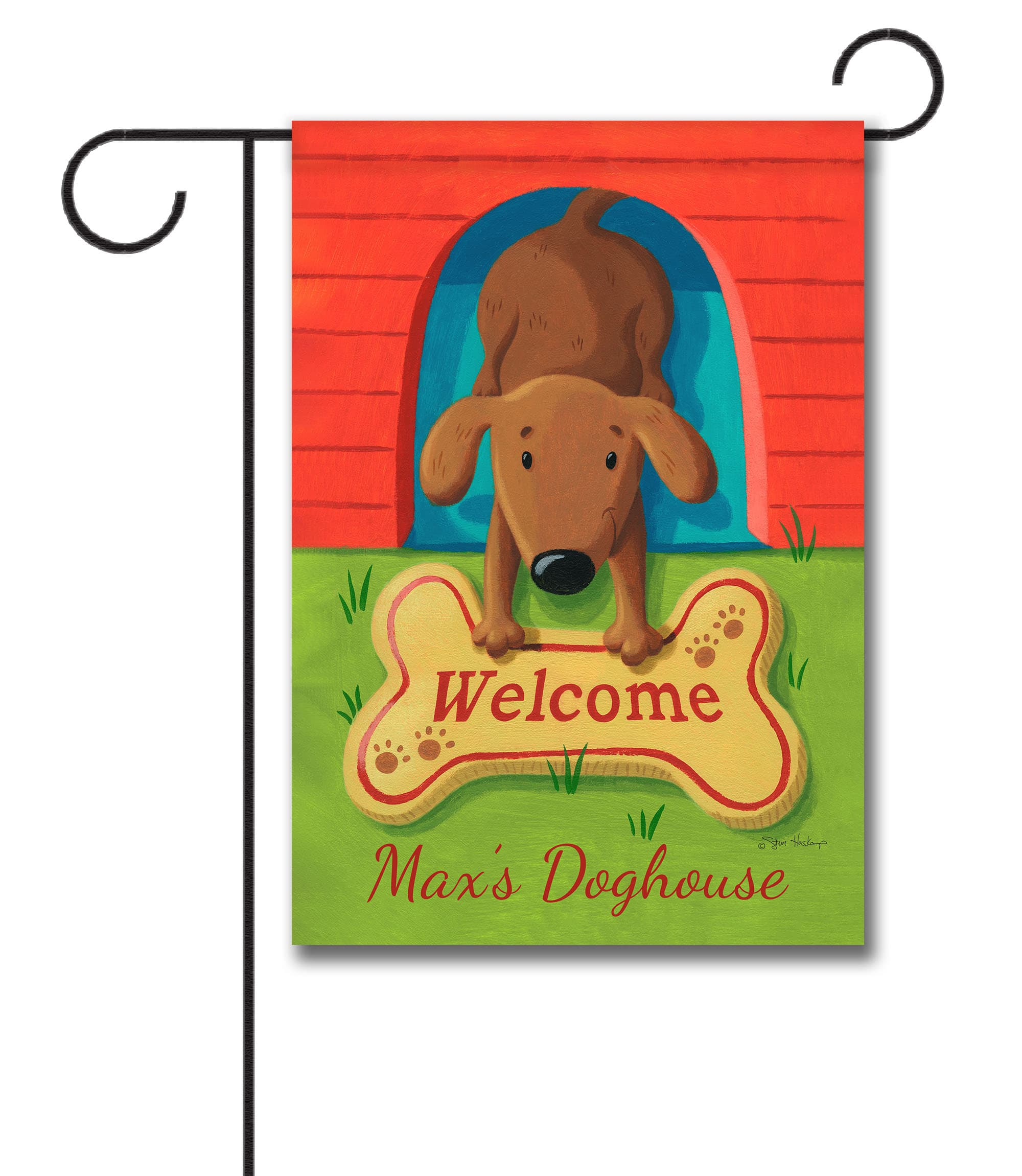 Personalized Dog Welcome Mat - Garden Flag - 12.5'' x 18''