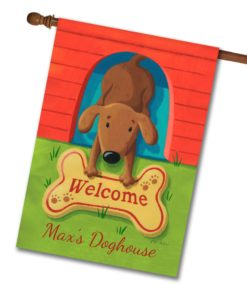 Personalized Dog Welcome Mat - House Flag - 28'' x 40''