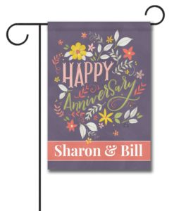 Personalized Happy Anniversary Garden Flag