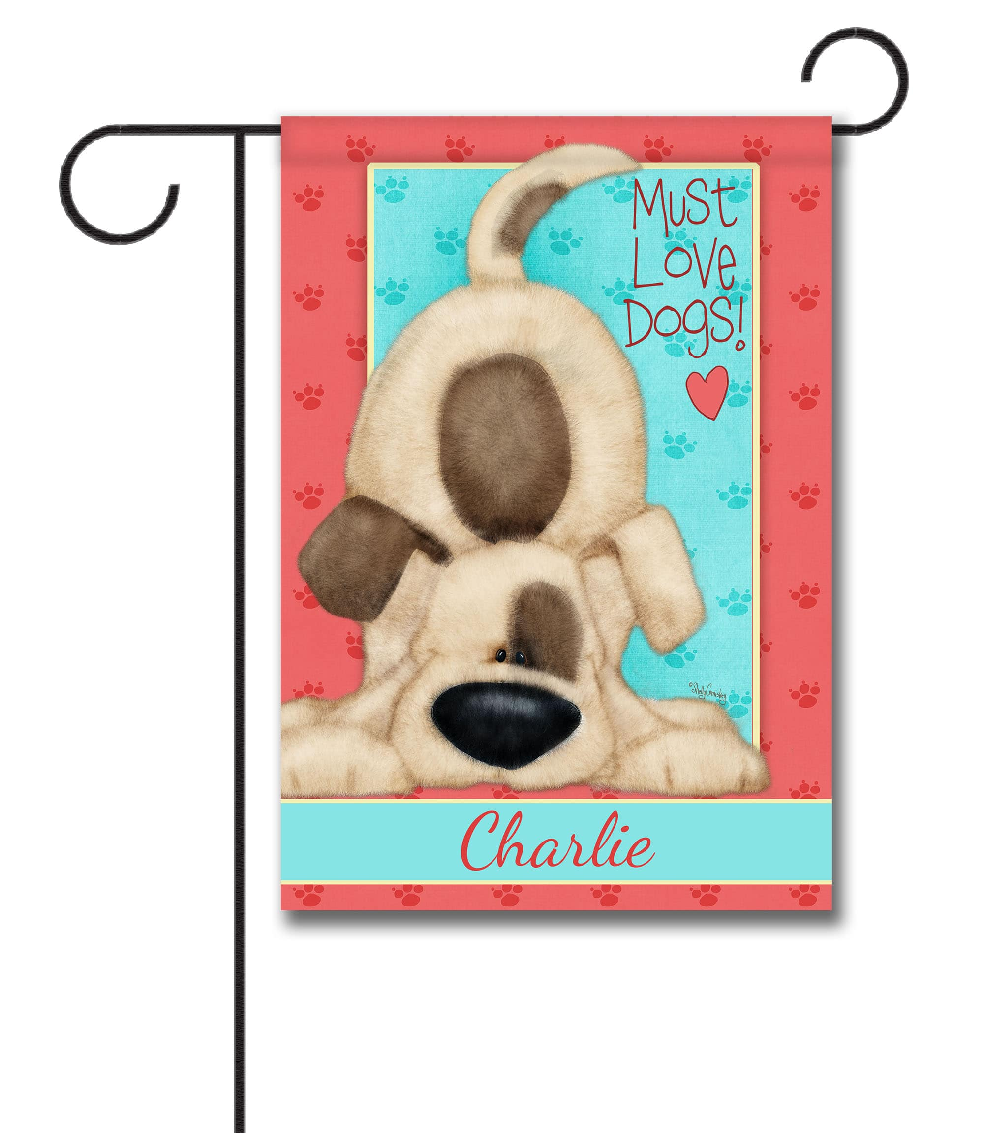 Personalized Must Love Dogs - Garden Flag - 12.5'' x 18''