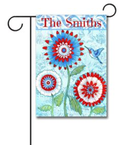 Personalized Patriotic Hummingbird - Garden Flag - 12.5'' x 18''
