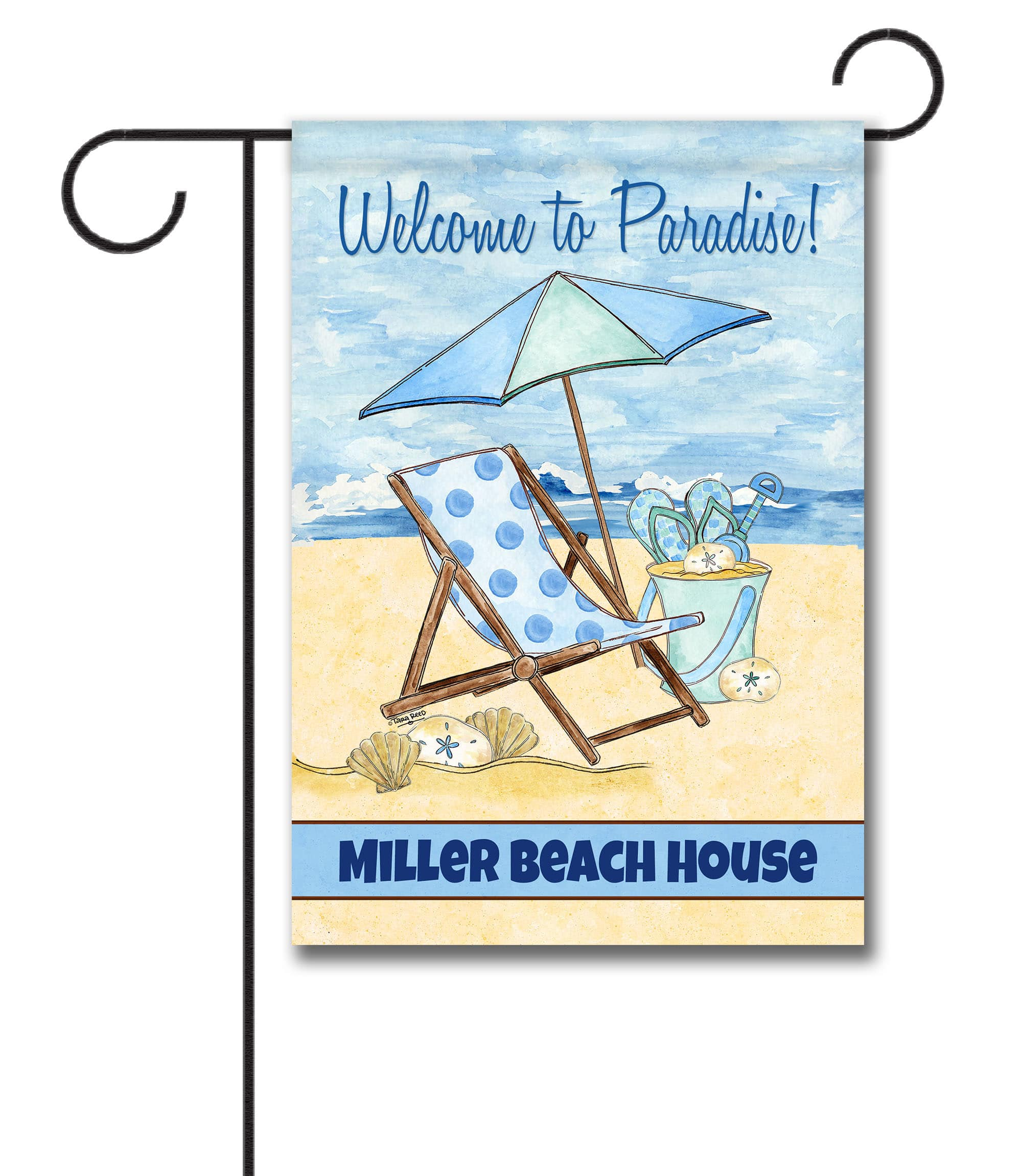 Personalized Welcome To Paradise Garden Flag 12 5 X 18 Custom Printed Flags Flagology Com