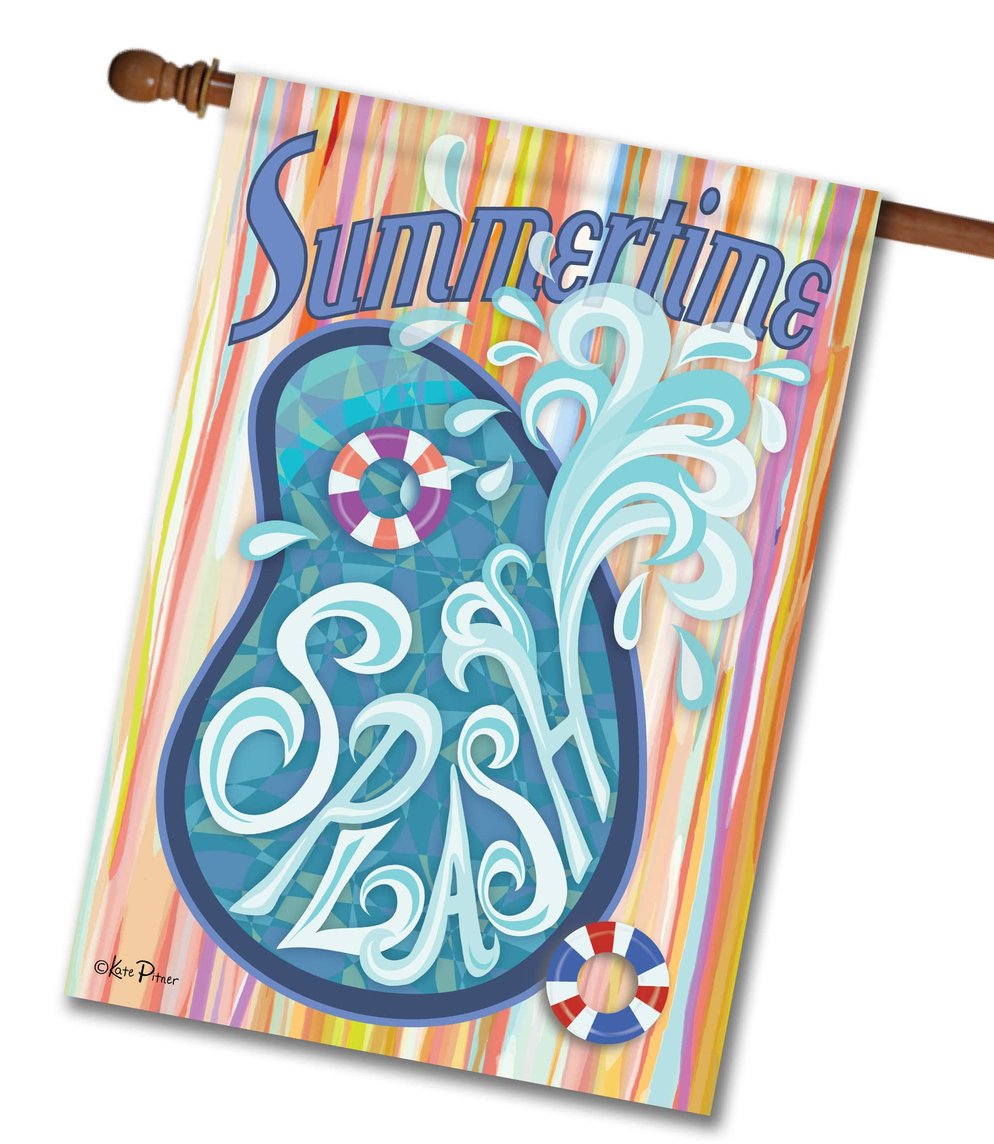 Summertime Splash - House Flag - 28'' x 40''