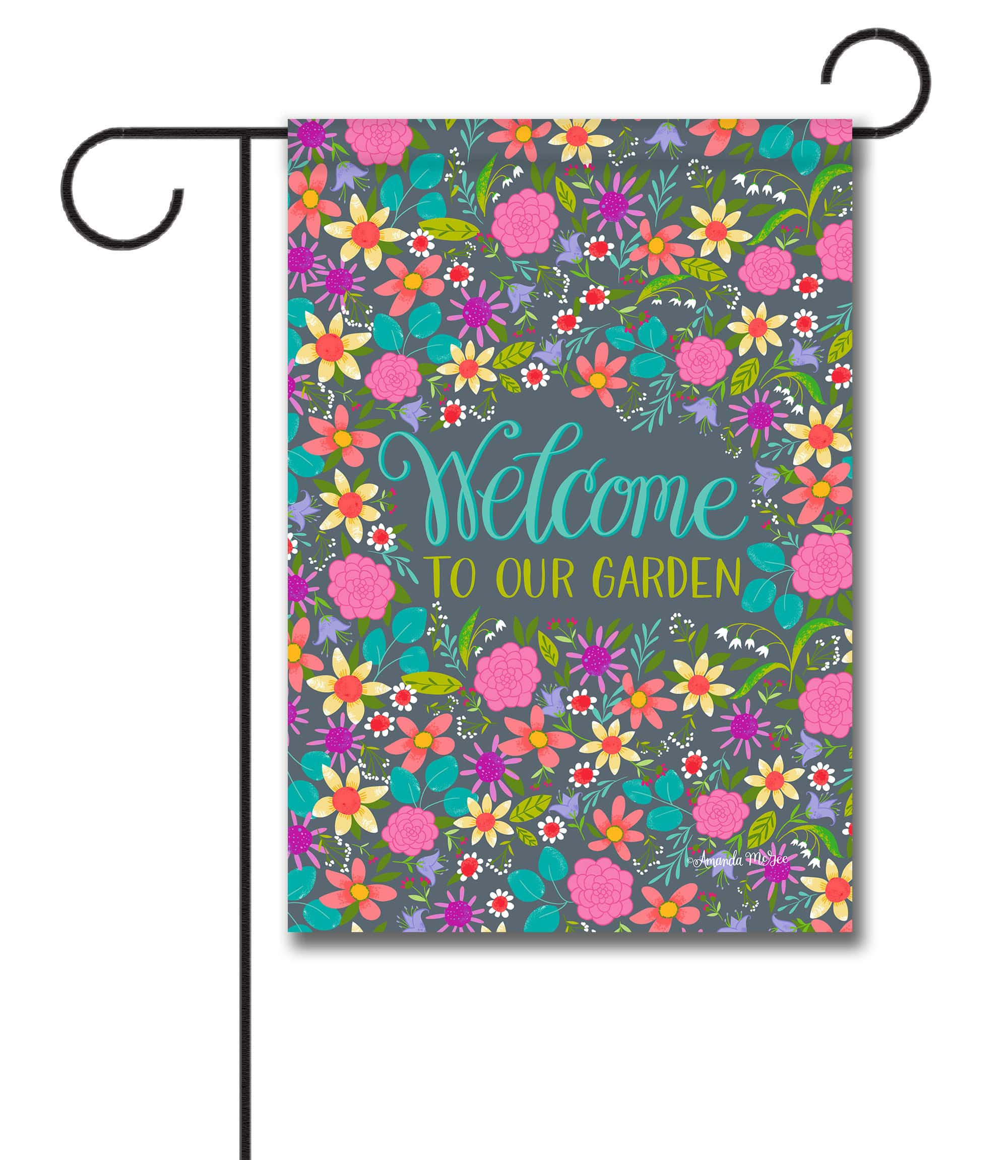 Spring Floral Welcome Garden Flag
