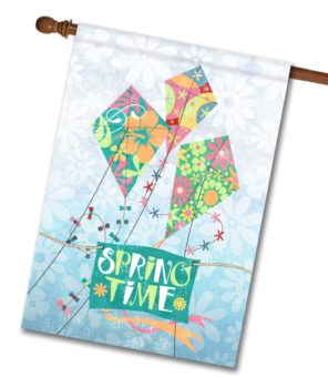 Spring Kites House Flag