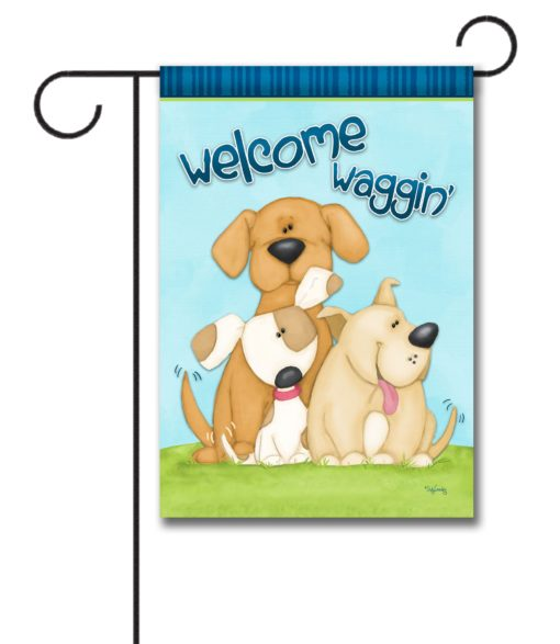 Welcome Dogs Garden Flag