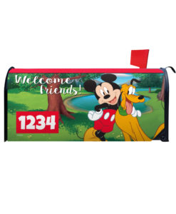 Mickey Mouse and Pluto Disney Mailbox Cover