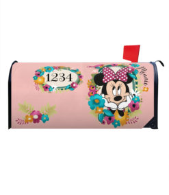 Minnie Mouse Floral Disney Mailbox Cover