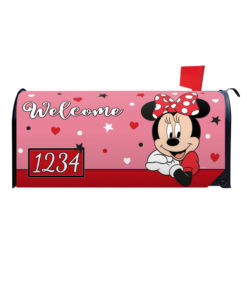 Minnie Mouse Welcome Mailbox Cover