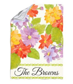 Personalized Floral Spring Welcome Blanket
