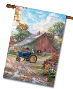 Thomas Kinkade Farm House Flag