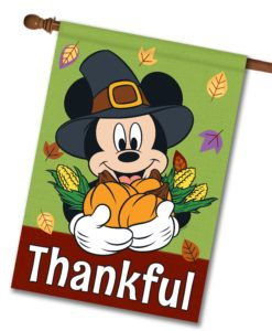 Mickey Mouse Thanksgiving House Disney Flag
